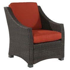 Belvedere Wicker Patio Club Chair - Threshold™ - Pumpkin