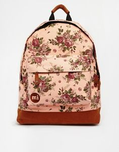 Mi Pac Floral Tapestry Backpack