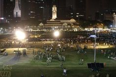 At 10.30pm, the queue has moved inwards Padang with army personnel dismantling tents and removing barricades