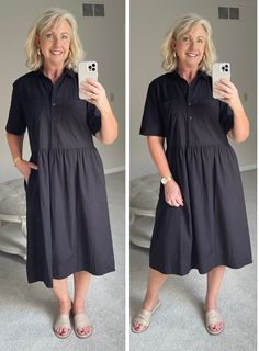 Summer style, black dresses, women's fashion, summer style, comfortable dresses 21st Dresses, Summer Dresses, House Dress, Weekend Outfit, Striped Tee, Fashion Outfits, Womens Fashion, I Dress, What To Wear