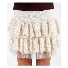 BKE Boutique Lace Skirt via Polyvore