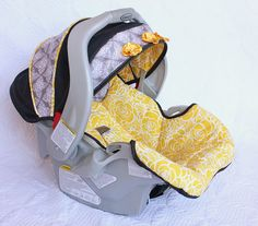 Recovering a Baby Car Seat | Make It and Love It.... she does an amazing job at showing her progress in pictures and explaining how to do it yourself