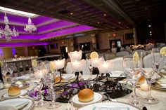 Elegant Evening Wedding Centerpiece.