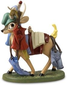 *WDCC Disney Classics_Snow White Deer With Laundry Spring Cleaning
