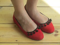 Little red pumps made by Kay.