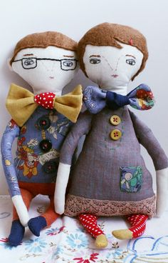 "Handemade Romance ""She & Him Bow Tie Couple"" Etsy"