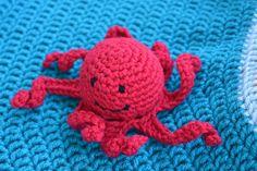 octopus- stuffed animal- sea creature- ocean theme- beach theme- diaper bag toy- toddler toy- baby toy- crochet- amigurumi- beach toy- fish