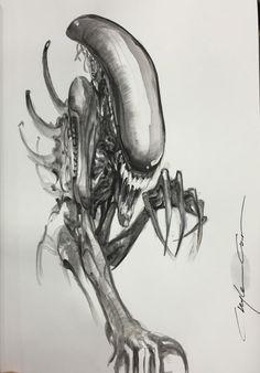 Alien by Clayton Crain *