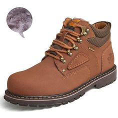 Big Size Men Ankle Boots / Genuine Leather Men Work & Safety Boots huang se with Mens Winter Boots, Winter Shoes, Rubber Boots For Men, Cool Boots For Men, Leather Men, Leather Shoes, Fashion Boots, Mens Fashion, Boots
