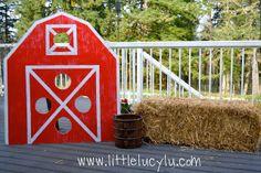 Little Lucy Lu: My Little Pony/Down on the Farm Birthday Party! DIY Barn Beanbag Toss!