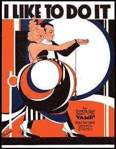 """I Like To Do It"" ~ Vintage Art Deco sheet music cover."