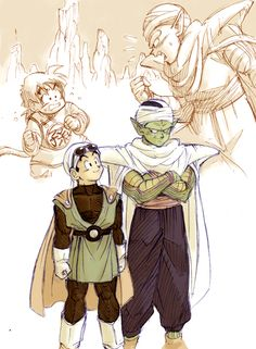 """Now and Then,"" representing the relationship between Gohan and Piccolo throughout the series."