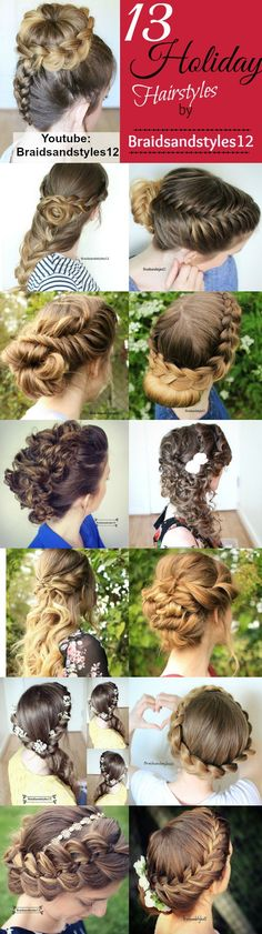 13 Holiday Hairstyles / Holiday Hairstyle ideas by Braidsandstyles12