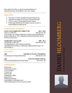 FREE Call Out Resume