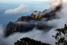 The Clouds Came Rolling In By P-Kittye This is the Kalalau Valley on Kaua'i as seen from the Pu'u o Kila Lookout. The valley ends at the famous Na Pali Coast