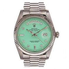 Sea foam green Rolex