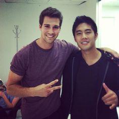 James and Ryan Higa!!! WHAAAATTT!!!! Ryan knows smosh!! #crazy #bothcute #love