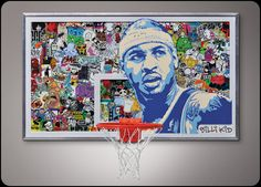 Basketball and art combined... nothing better.