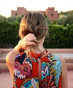 Anthropologie Maeve Larkhill Swing Dress | Taken at Kasbah Bab Ourika, Morocco | Casually Glam Travels
