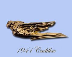 1941 Cadillac winged goddess mascot replaced the motometers, by the time the 1920's rolled around, motometers were no longer needed since the temperature gage was inside on the dashboard, and most automakers were covering the radiators with grilles for protection, the caps for the radiators were still on top of the grille, outside of the hood, thus the hood ornament was born as a design element to decorate the radiator cap, 1941 Cadillac Flying Lady Hood ornament Mascots, as hood ornaments