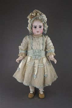Click for full-sized image. Antique French Jumeau doll.