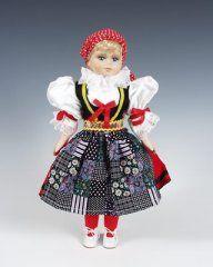 Czech folk costume doll