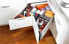 Storage ideas for small spaces bedroom designs: Storage ideas for . Storage ideas for small spaces 10 Home Organization and Storage Id. Creative Storage, Diy Storage, Storage Spaces, Storage Ideas, Smart Storage, Bedroom Storage, Drawer Ideas, Spice Storage, Drawer Storage