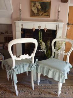 Shabby Chic Chair Cushions Amp Painted Bar Stools Seat