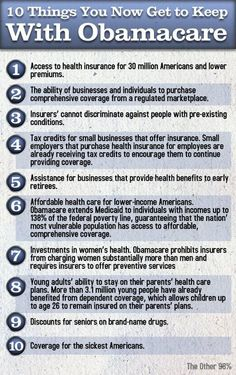 10 Things You get to Keep with Obamacare