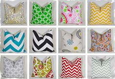"""18"""" x 18"""" Pillow Covers - 12 Colors To Choose From"""