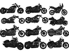Our motorcycles package contains some popular styles for the motorcycle enthusiest. There are 12 different motorcycle images. DXF files ready for cnc machines