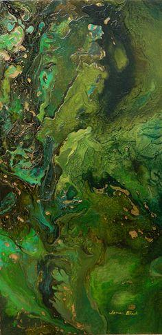Verde Tierra, mixed media, James Blackart