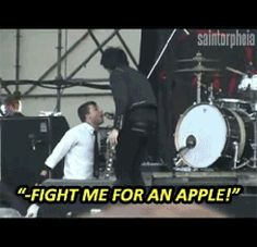 """That time Frank screamed """"fight me for an apple"""" during """"Our Lady of Sorrows"""" for no apparent reason."""