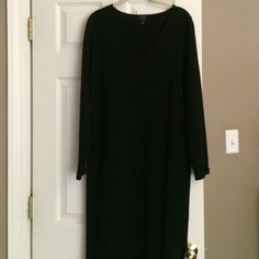"""Knit black dress Lovely knit sheath dress by Talbots . Worn only once and in excellent condition . Total length 44"""". I'm 5""""4 and hits me about 4 in below knee Talbots Dresses Midi"""