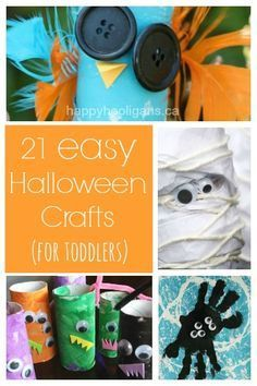 21 Easy Halloween Crafts Your Toddler Will Love - easy, fun, inexpensive, cute…