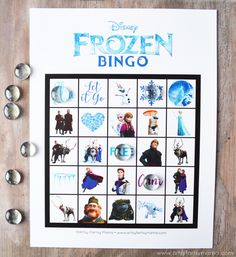 Free Printable Frozen Bingo is fun for parties and movie nights