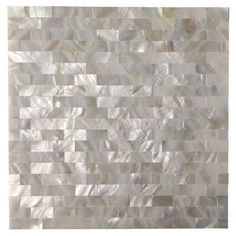 Ivy Hill Tile Mother Of Pearl Serene White Squares 12 in. x 12 in. x 2 mm Seamless Pearl Shell Glass Wall Mosaic Tile Splashback Tiles, Mosaic Wall Tiles, Mosaic Glass, Backsplash Tile, Tiling, Glass Tiles, Tile Art, Mosaic Bathroom, Cement Tiles