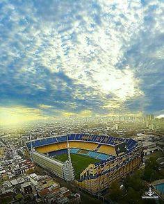 La Bombonera - BUE Football And Basketball, Soccer, Bernabeu, Leeds United, Sports Illustrated, Night Skies, South America, Airplane View, City Photo