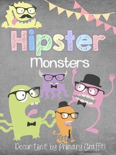 Primary Graffiti: Hipster Monster Decor