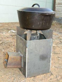 Heavy Duty Rocket Stove | Camping