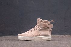 new products b0fa8 5ac2c Nike SF Air Force 1 MID   Particle Beige White   Womens Trainers  AA3966 -201
