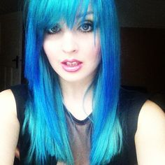 awesome blue hair!