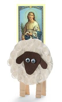 St. Agnes and lamb crafts