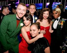 Camila Cabello with her sister, Sam Smith, Brandon Flynn, Lorde and Janelle Monae at the 2018 Grammy Awards in NYC Fifth Harmony, Havana, Camila Album, Netflix, Justin Foley, Sam Smith, Lorde, Celebs, Celebrities