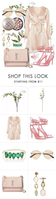 """""""030318/1"""" by patttiee ❤ liked on Polyvore featuring Wyld Home, Oh My Love, Zimmermann, Loren Stewart, The Row, Yves Saint Laurent, Melissa Joy Manning, YSL and yvessaintlaurent"""