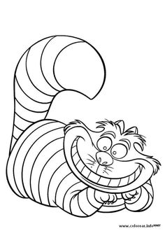kids under 7 alice in wonderland coloring pages party mad hatter tea pinterest coloring coloring pages and kid - Cheshire Cat Smile Coloring Pages