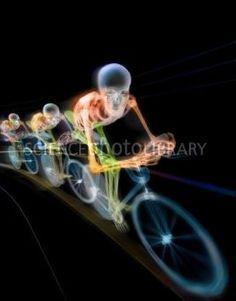 Cyclying Race Colored X-Ray