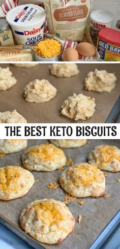 Biscuits Au Cheddar, Biscuits Keto, Queso Cheddar, Red Lobster Cheddar Bay Biscuits Recipe, Almond Flour Biscuits, Cheddar Cheese, Ketogenic Recipes, Low Carb Recipes, Cooking Recipes
