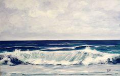 Onda 2 è un opera che segna l'amore che l'autrice ha per il mare, ma anche il suo timore per le onde che l'affascinano ma che non riesce ad avvicinare. Violetta Viola pittrice e decoratrice Novarese. Opera, Waves, Deco, Outdoor, Outdoors, Opera House, Deko, Dekoration, Outdoor Games