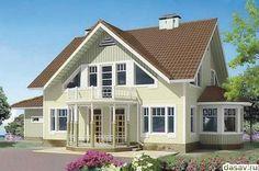 Красивые дома каркасного типа, белый